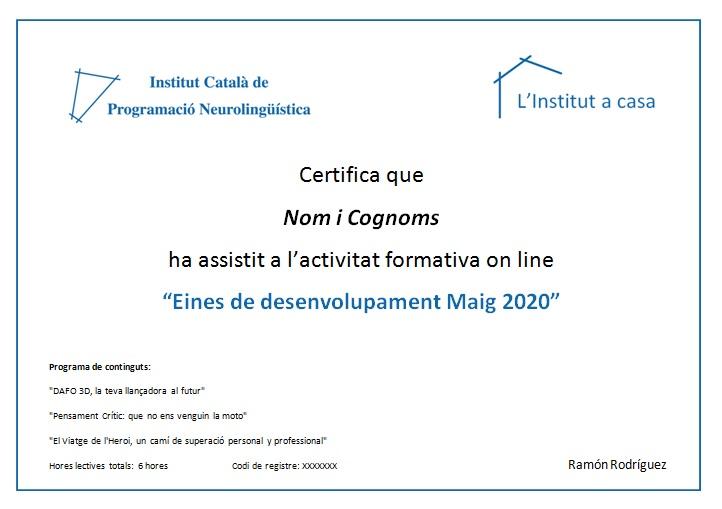 Certificat Imatge Web